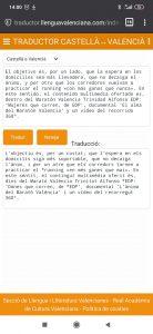 Traductor en smartphone